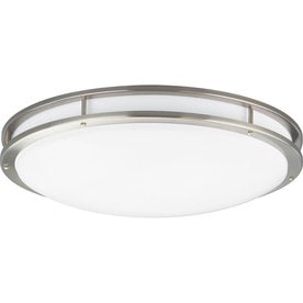 Shop flush mount fluorescent lights at lowes progress lighting modular fluorescent white acrylic ceiling fluorescent light energy star common 2 aloadofball Gallery