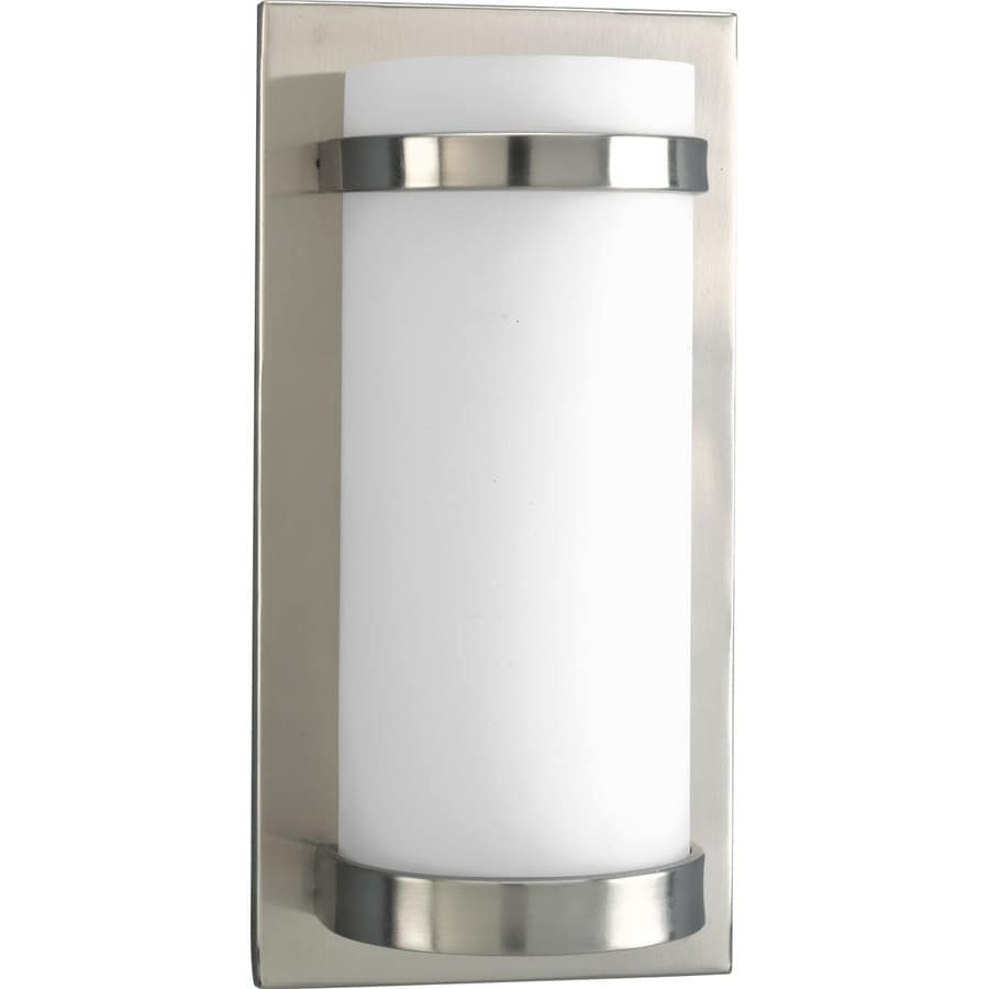 Progress Lighting 7-in W 1-Light Brushed Nickel Pocket Wall Sconce