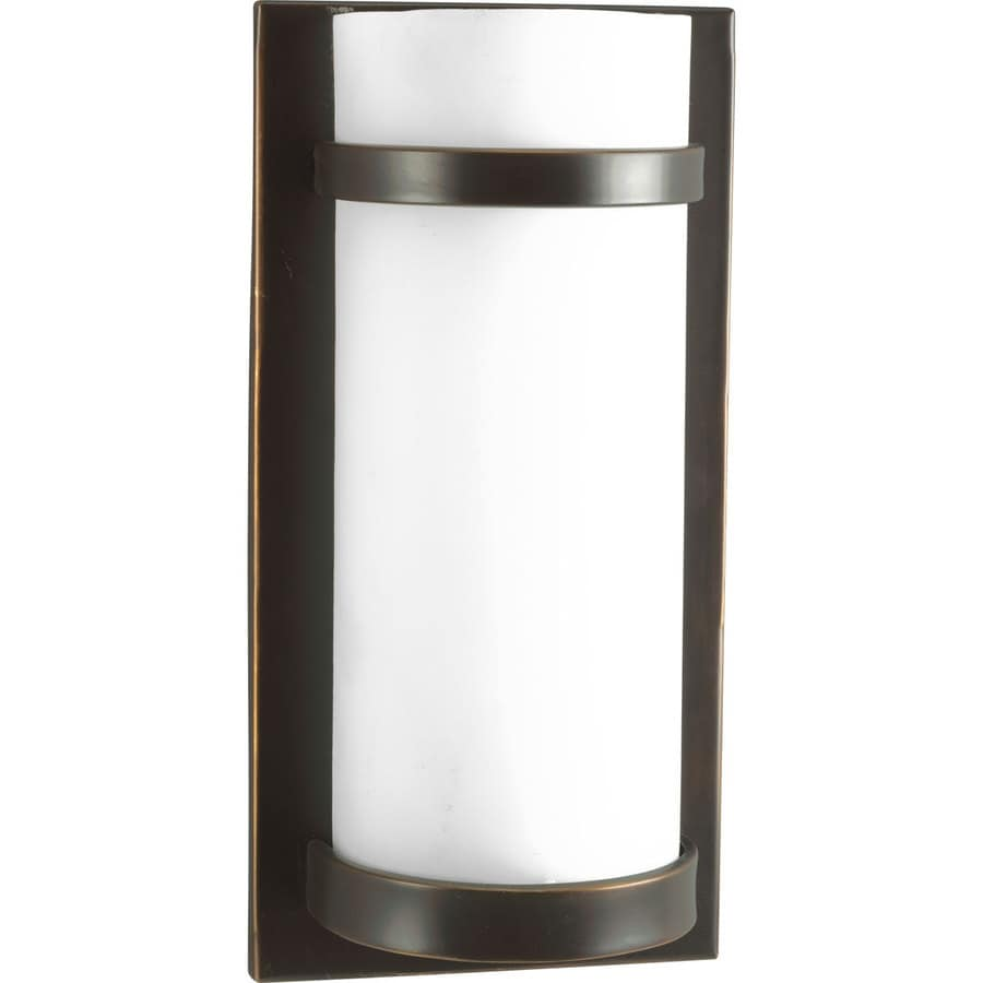 Shop Progress Lighting 7-in W 1-Light Antique Bronze Pocket Wall Sconce at Lowes.com