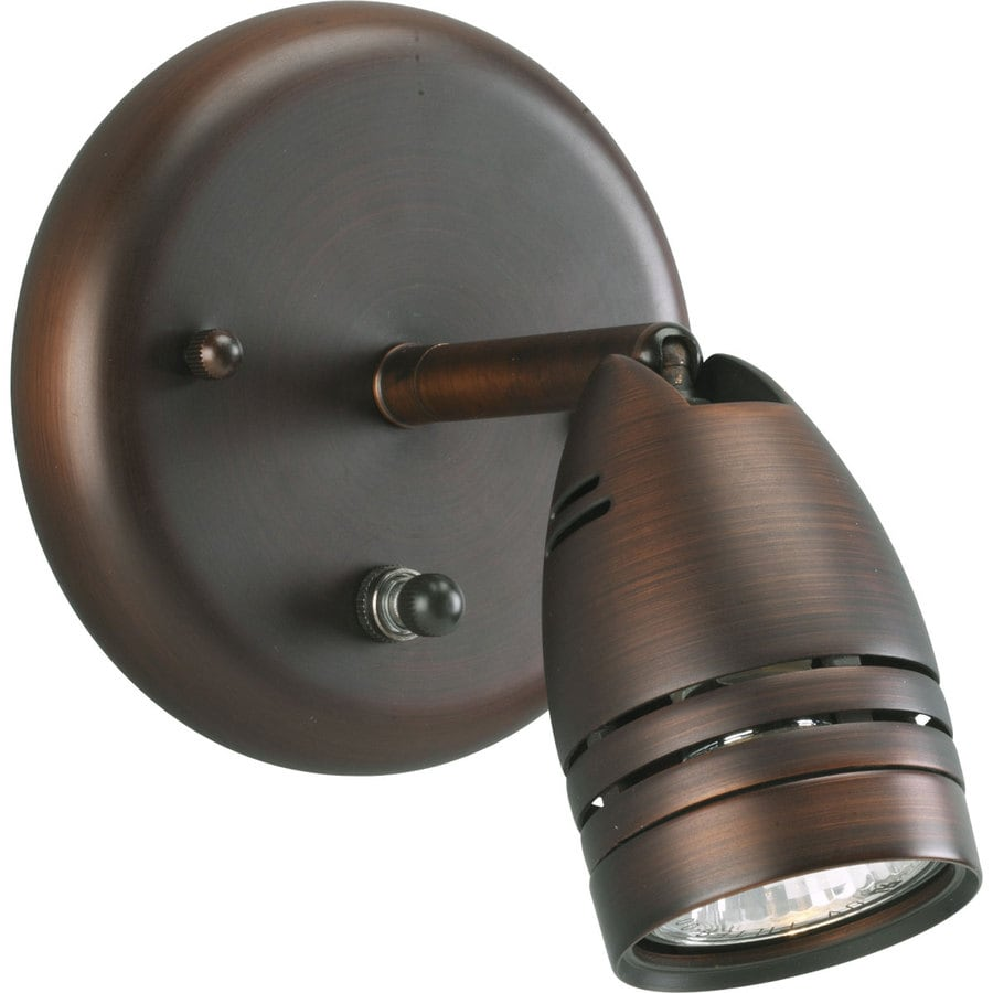 Progress Lighting Directional 7.5 In W 1 Light Urban Bronze Directional Wall  Sconce