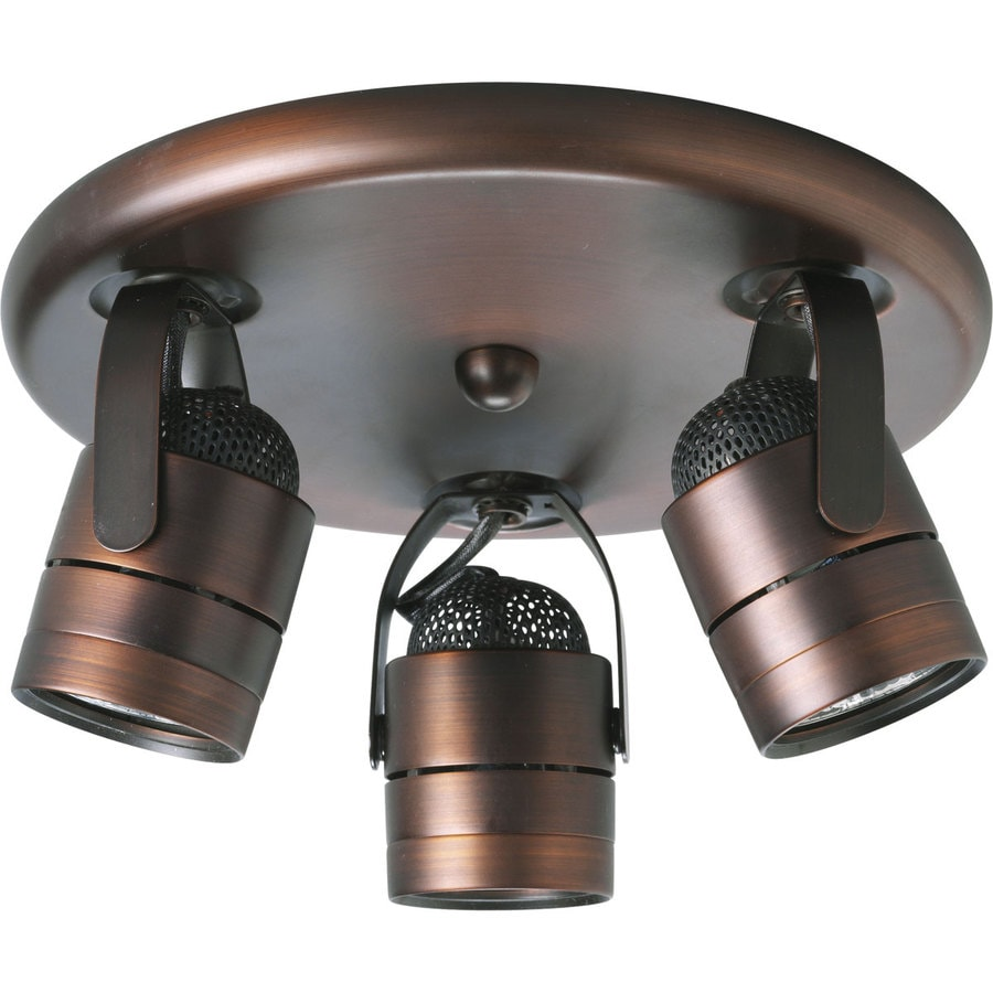 Progress Lighting Directional 3-Light 9.25-in Urban Bronze Flush-Mount Fixed Track Light Kit