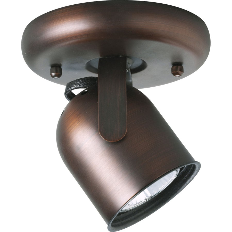 Progress Lighting Directional 1-Light 5-in Urban Bronze Flush-Mount Fixed Track Light Kit
