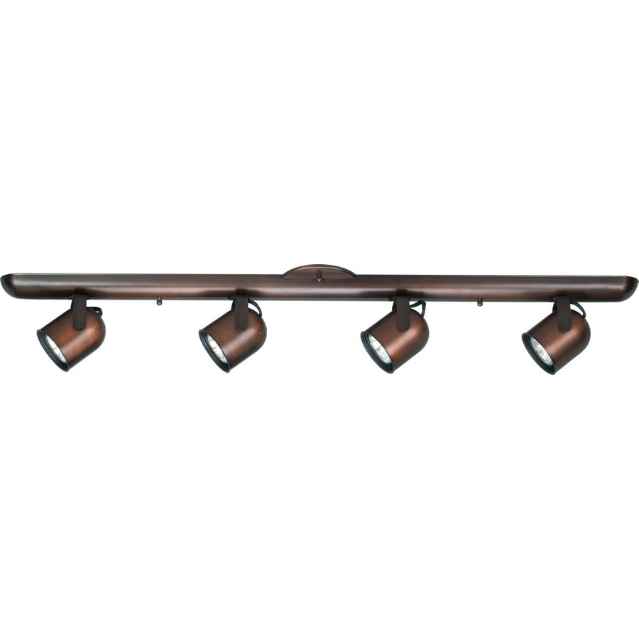 Progress Lighting Directional 4-Light 36-in Urban Bronze Track Bar Fixed Track Light Kit