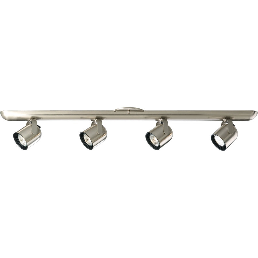 Progress Lighting Directional 4-Light 36-in Brushed Nickel Fixed Track Light Kit
