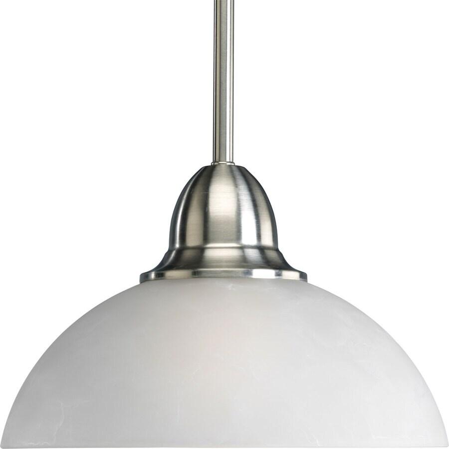 shop progress lighting pavilion 9 875 in brushed nickel
