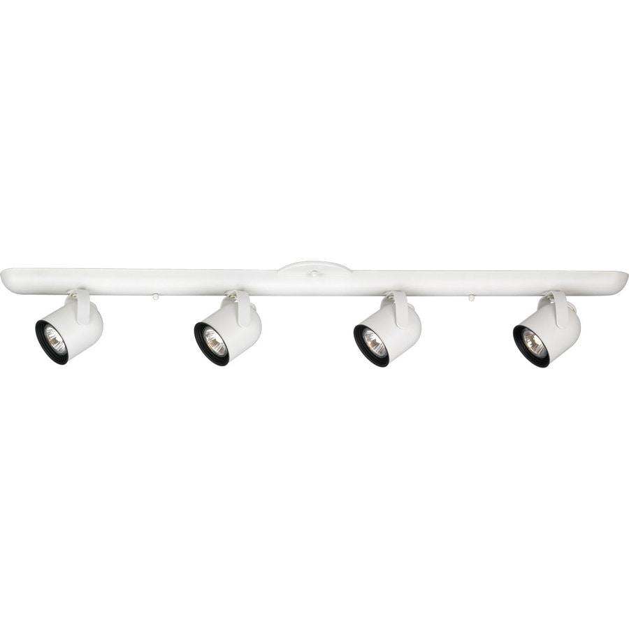 Progress Lighting Directional 4-Light 36-in White Track Bar Fixed Track Light Kit