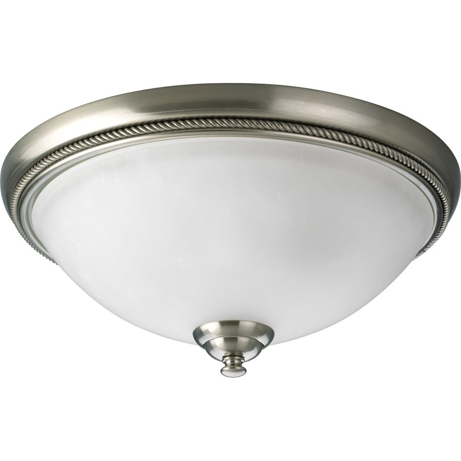 Progress Lighting Pavilion 15-in W Brushed Nickel Ceiling Flush Mount Light