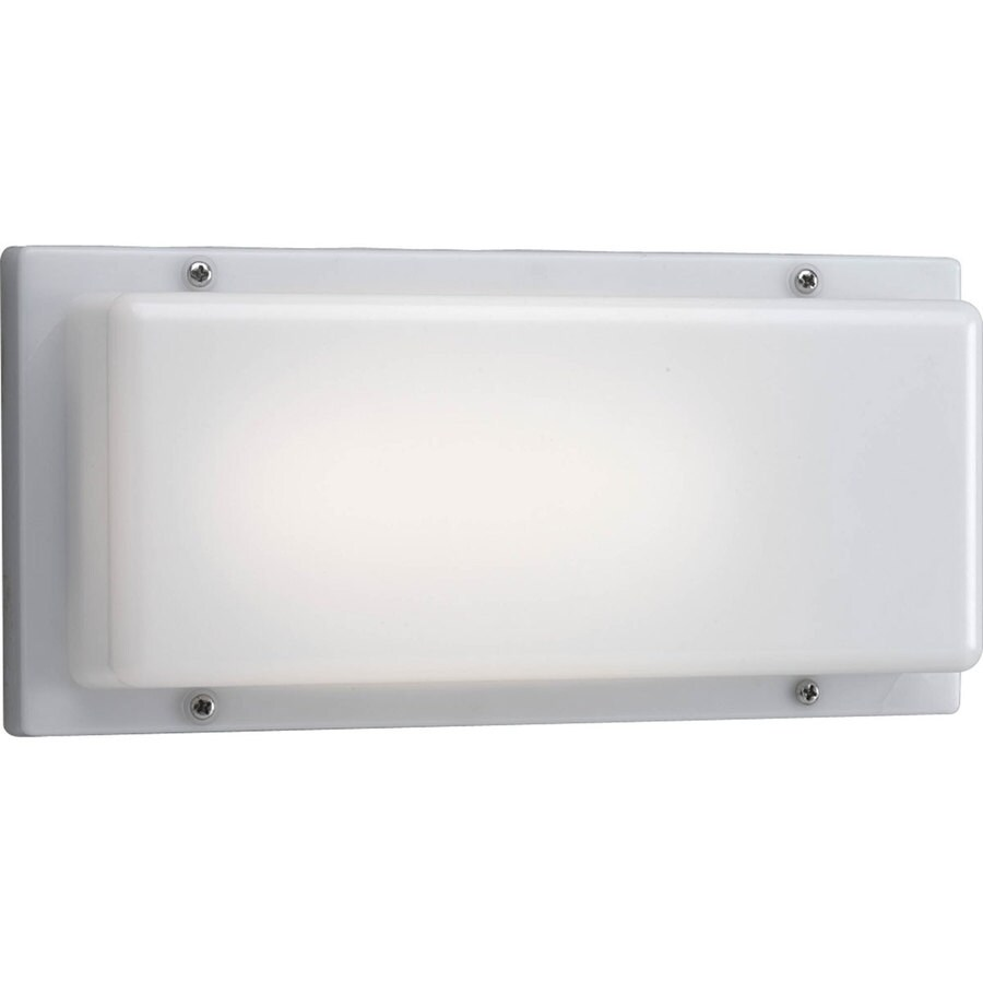 Progress Lighting 4.75-in H White Outdoor Wall Light