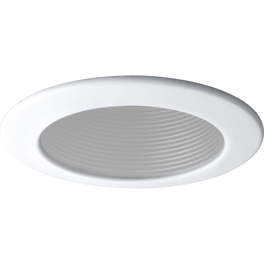 Shop Progress Lighting White Baffle Recessed Light Trim Fits Housing Diamete