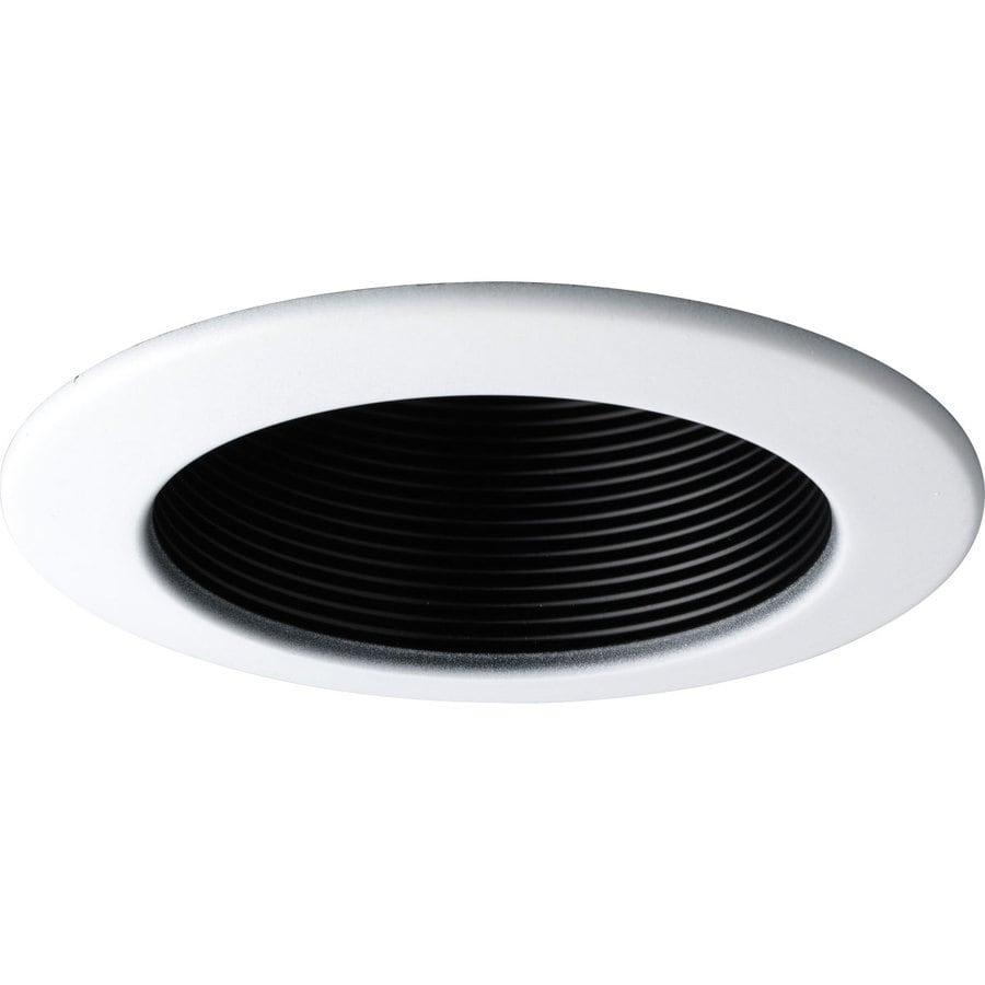 Progress Lighting Black Baffle Recessed Light Trim (Fits Housing Diameter: 4-in)