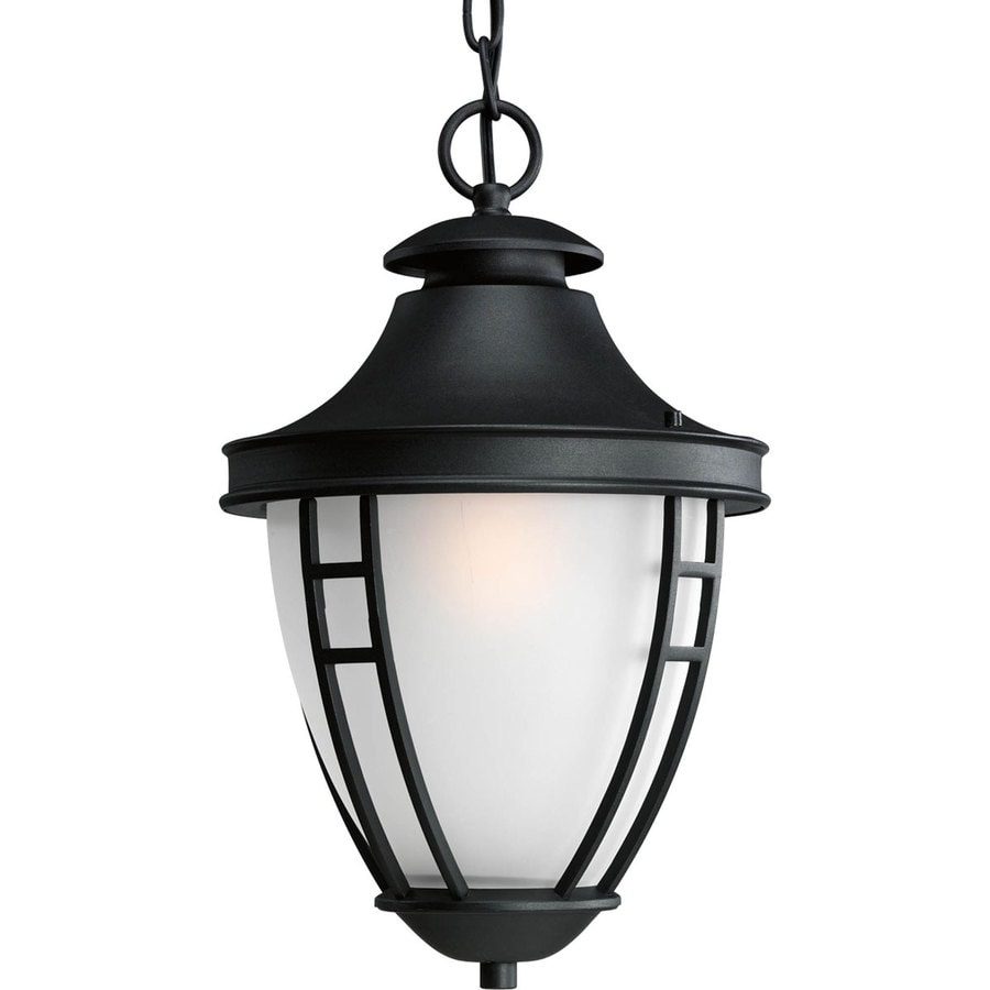 Progress Lighting Fairview 17.25-in Textured Black Outdoor Pendant Light