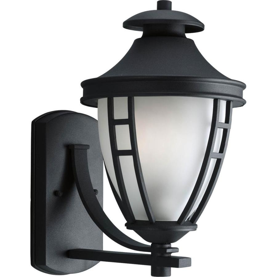 Progress Lighting Fairview 14.5-in H Textured Black Outdoor Wall Light