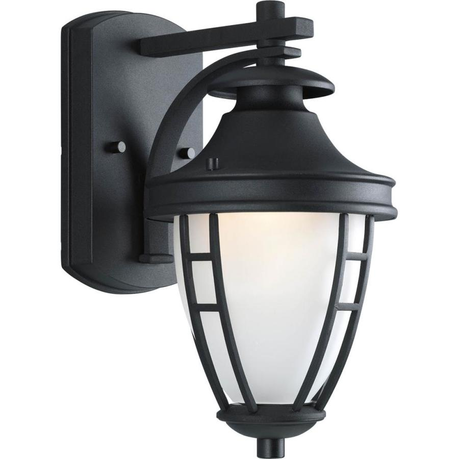 Home Depot Garage Lights Outdoor: Shop Progress Lighting Fairview 11.75-in H Textured Black