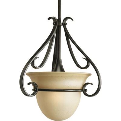 Torino Forged Bronze Mini Transitional Tinted Gl Bell Pendant Light