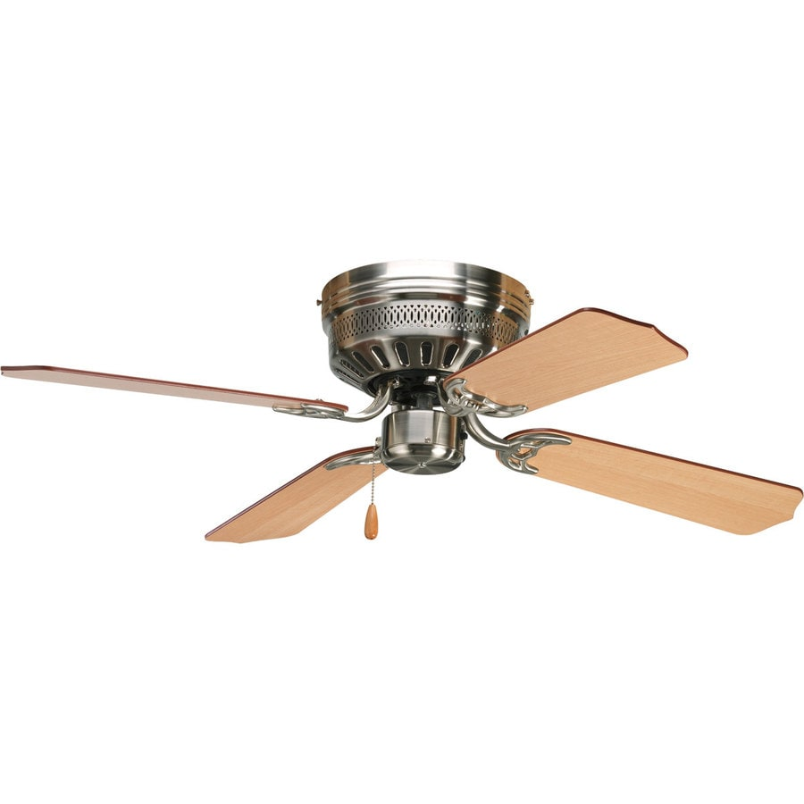 flush mount ceiling fan brushed nickel. Delighful Mount Progress Lighting AirPro Hugger 42in Brushed Nickel Indoor Flush Mount  Ceiling Fan 4 And Nickel E