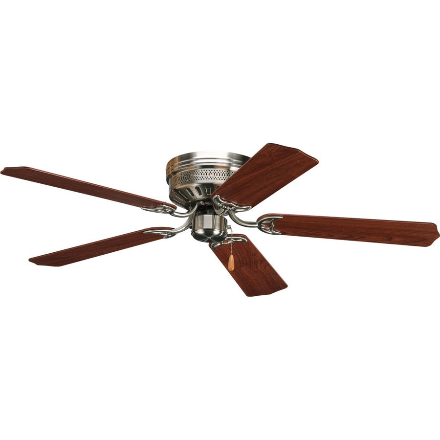 Shop progress lighting airpro hugger 52 in brushed nickel Home depot kitchen ceiling fans