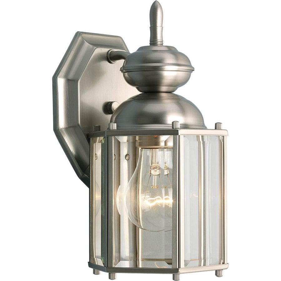 Progress Lighting Brassguard 10.25-in H Brushed Nickel Outdoor Wall Light