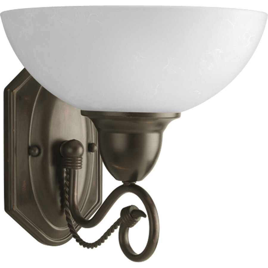 Progress Lighting Pavilion 1-Light Antique Bronze Bowl Vanity Light