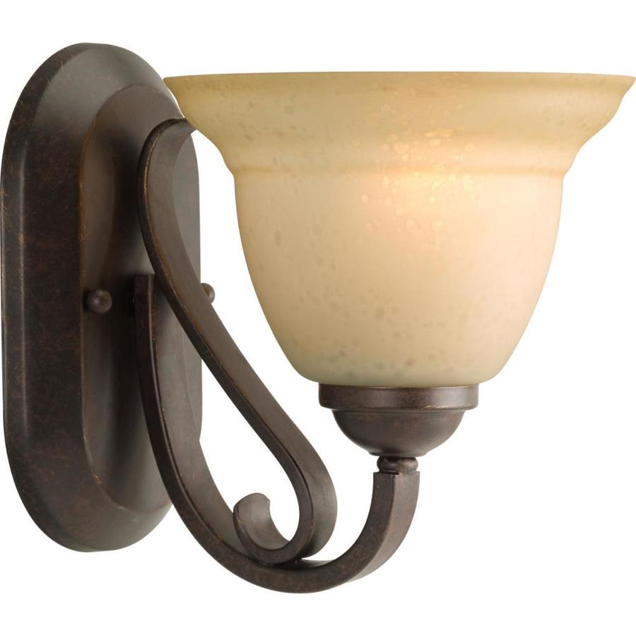 Progress Lighting Torino 1-Light 9.25-in Forged Bronze Bell Vanity Light