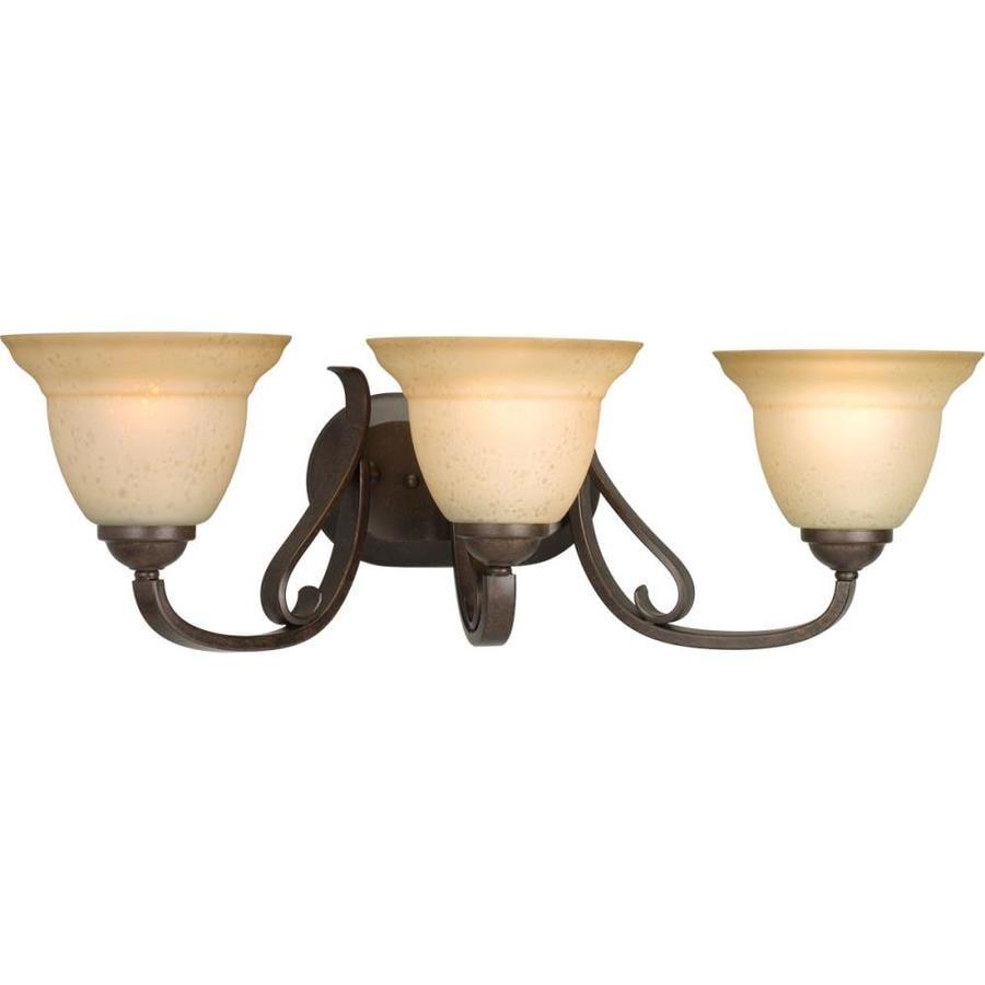 Progress Lighting Torino 3-Light 7.625-in Forged Bronze Bell Vanity Light