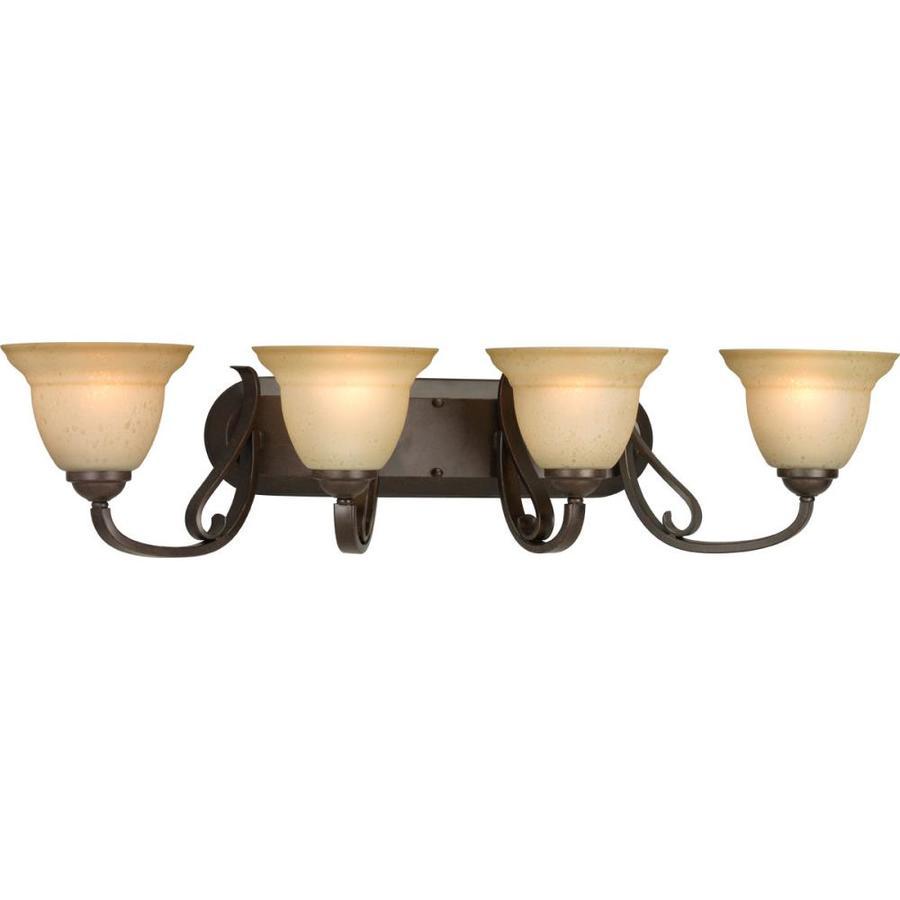 Progress Lighting Torino 4-Light 7.625-in Forged Bronze Bell Vanity Light