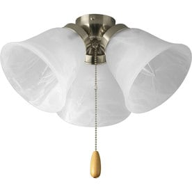 progress lighting airpro 3light ceiling fan light kit with alabaster shade