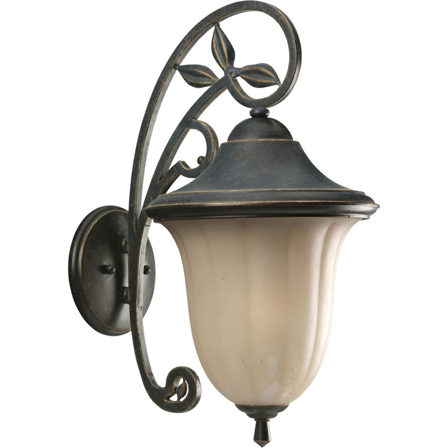 Jardin Wall Lights : Shop Progress Lighting Le Jardin 21.12-in H Espresso Outdoor Wall Light at Lowes.com