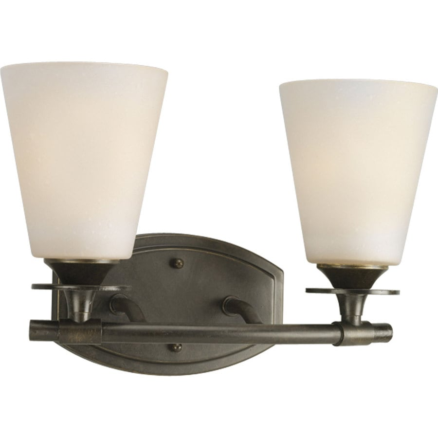 Progress Lighting Cantata 2-Light 9.25-in Forged Bronze Cone Vanity Light
