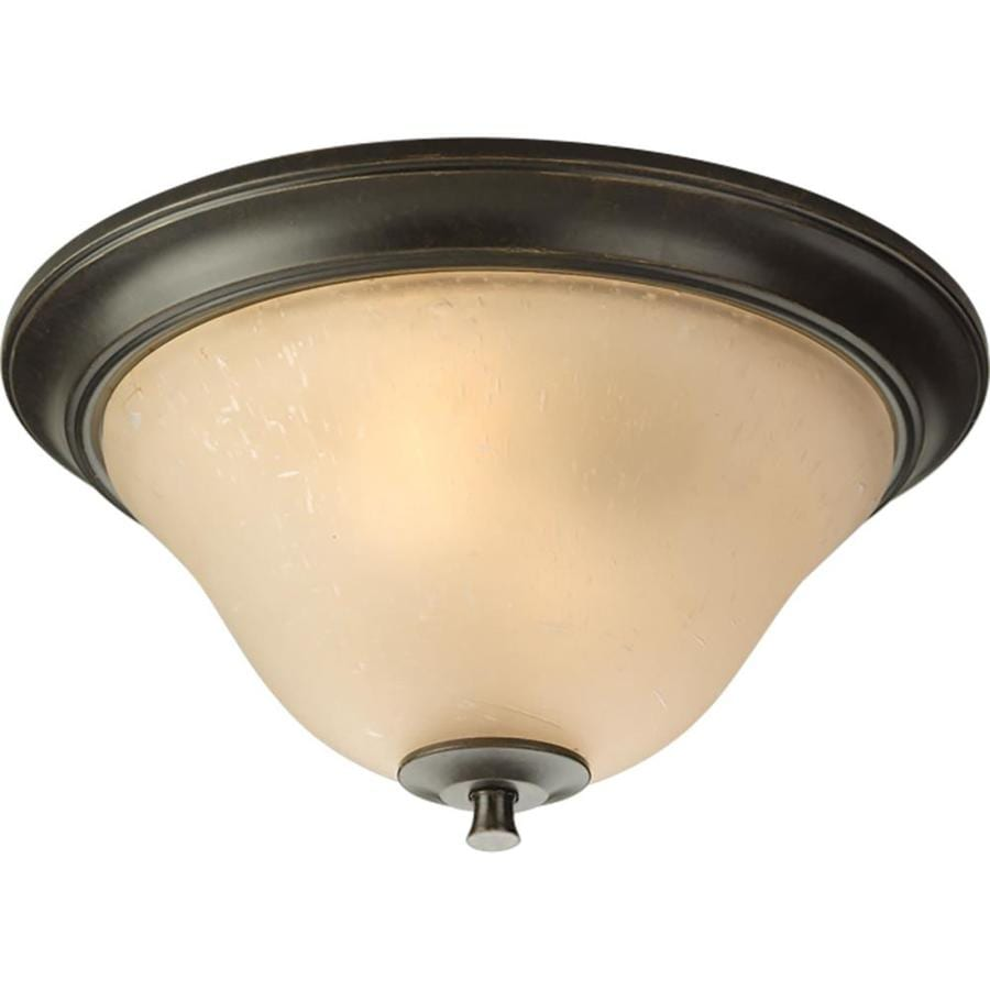 Progress Lighting Cantata 15-in W Forged Bronze Flush Mount Light