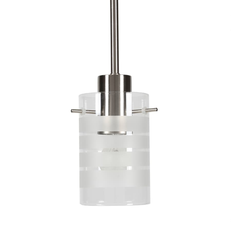 Progress Lighting Glass Pendants 3.875-in Brushed Nickel Mini Clear Glass Bell Pendant