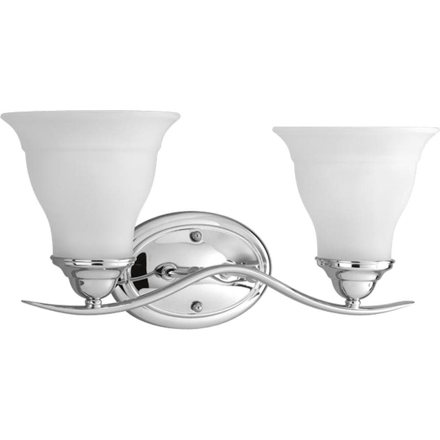 Progress Lighting Trinity 2-Light 8.125-in Chrome Bell Vanity Light