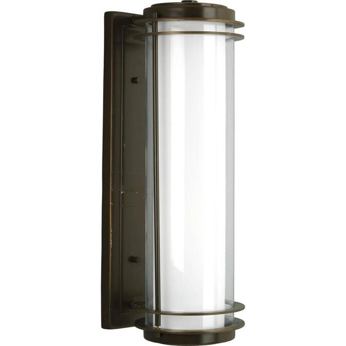 Progress Lighting Penfield 24 In H Oil Rubbed Bronze Medium Base E 26 Outdoor Wall Light In The Outdoor Wall Lights Department At Lowes Com