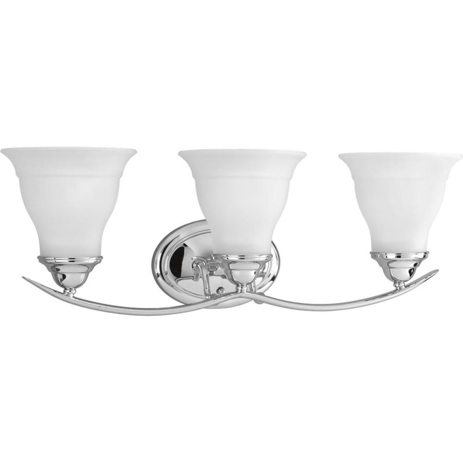 Progress Lighting Trinity 3-Light 8.125-in Chrome Bell Vanity Light