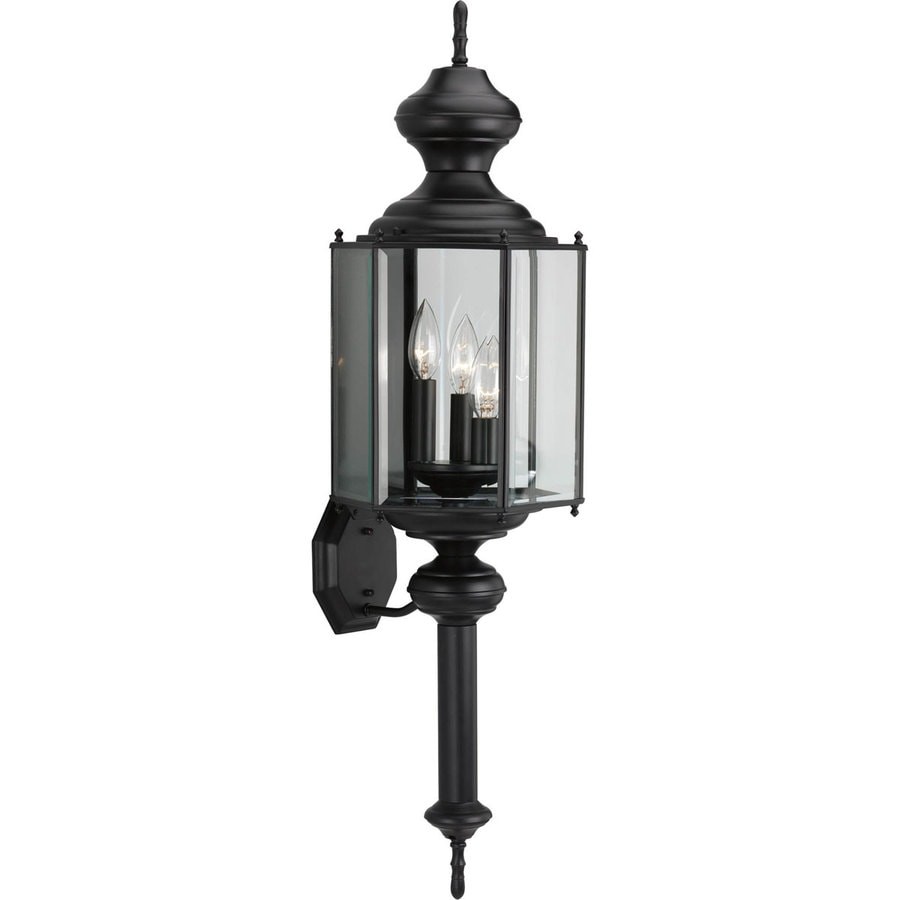 Progress Lighting 33-in H Black Outdoor Wall Light