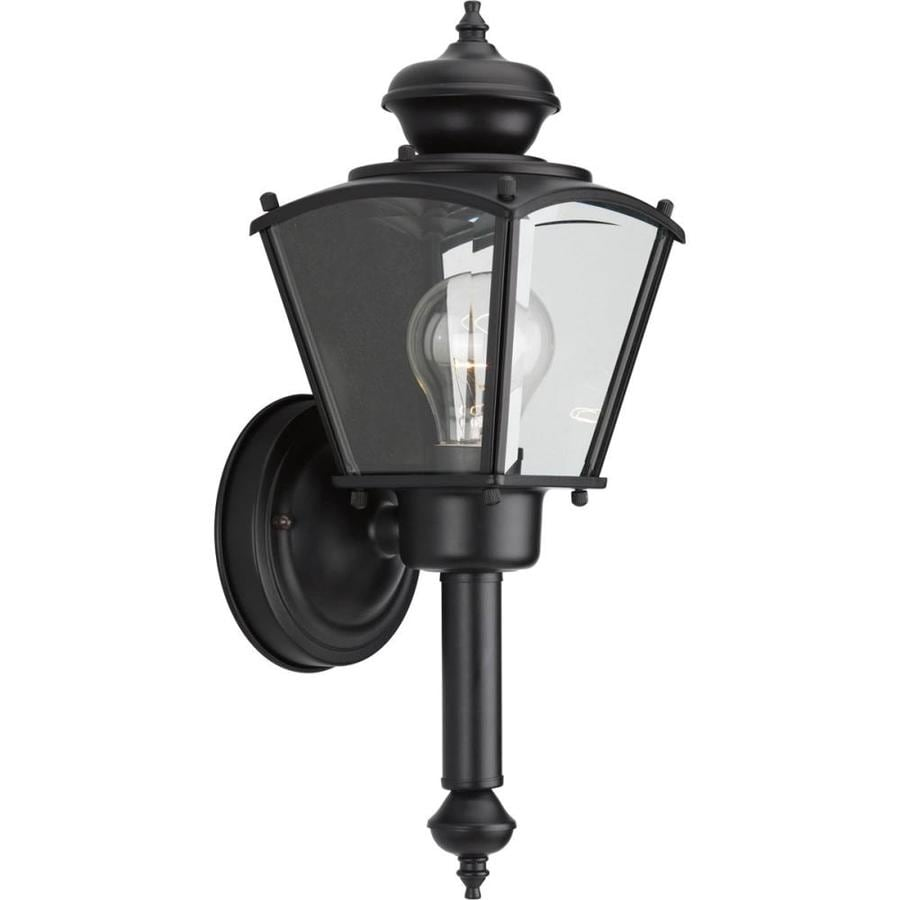 Progress Lighting 14.75-in H Black Outdoor Wall Light