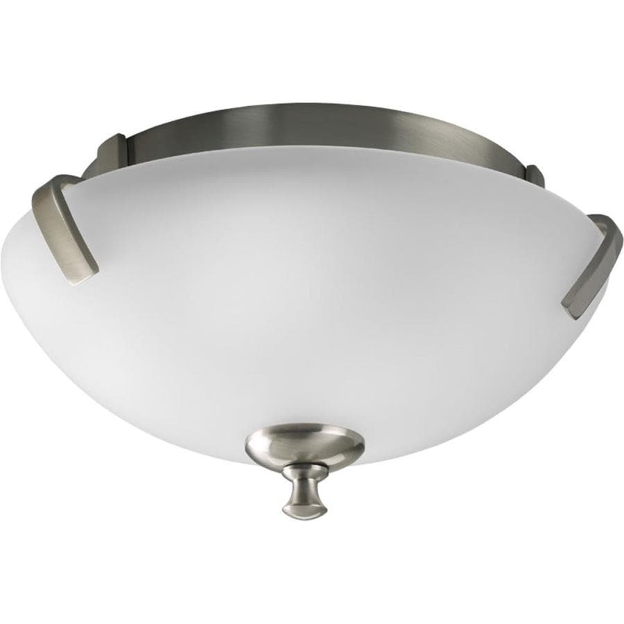 Progress Lighting Wisten 14-in W Brushed Nickel Flush Mount Light