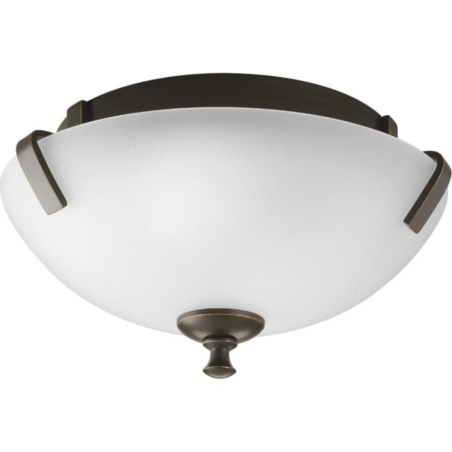 Progress Lighting Wisten 14-in W Antique Bronze Flush Mount Light