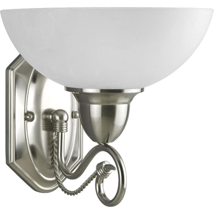 Progress Lighting Pavilion 1-Light 9.25-in Brushed Nickel Bell Vanity Light