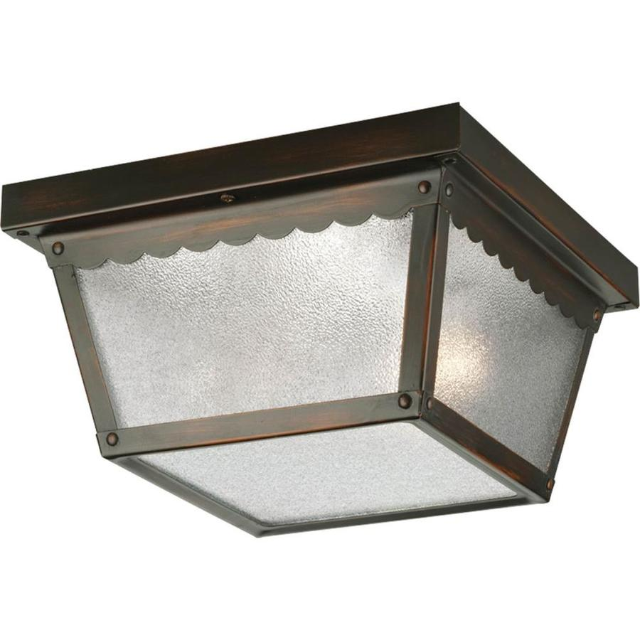 Shop Progress Lighting 9.25-in W Antique Bronze Outdoor