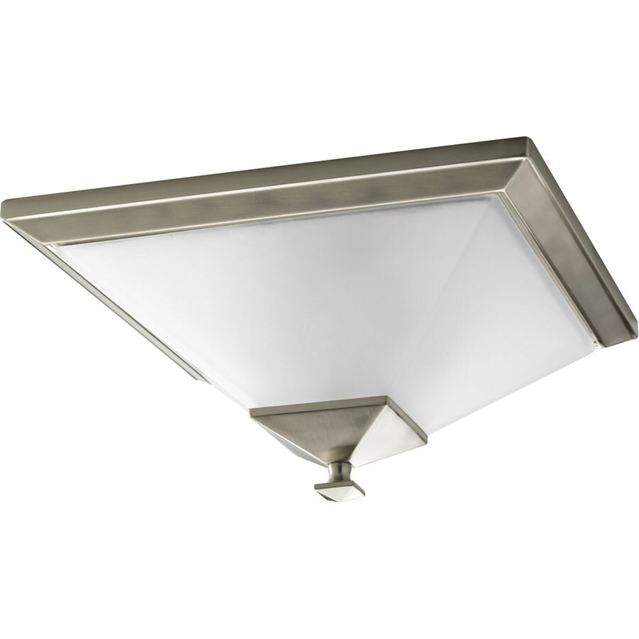 Progress Lighting North Park 14.999-in W Brushed Nickel Flush Mount Light