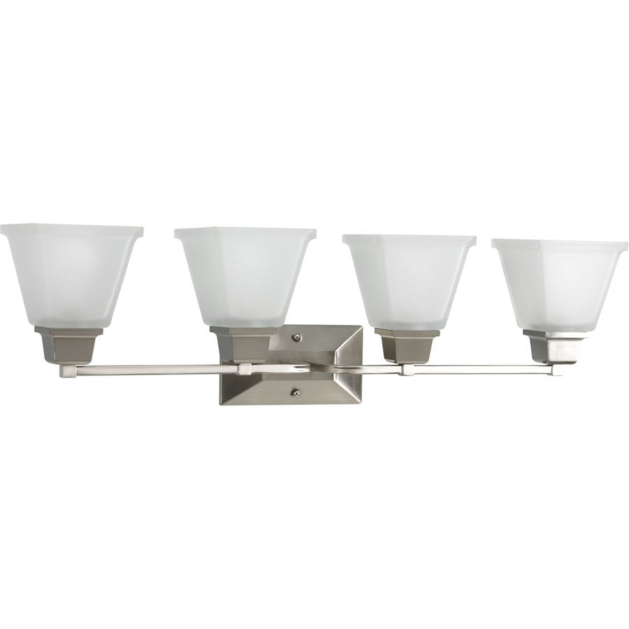 Progress Lighting North Park 4-Light Brushed Nickel Square Vanity Light