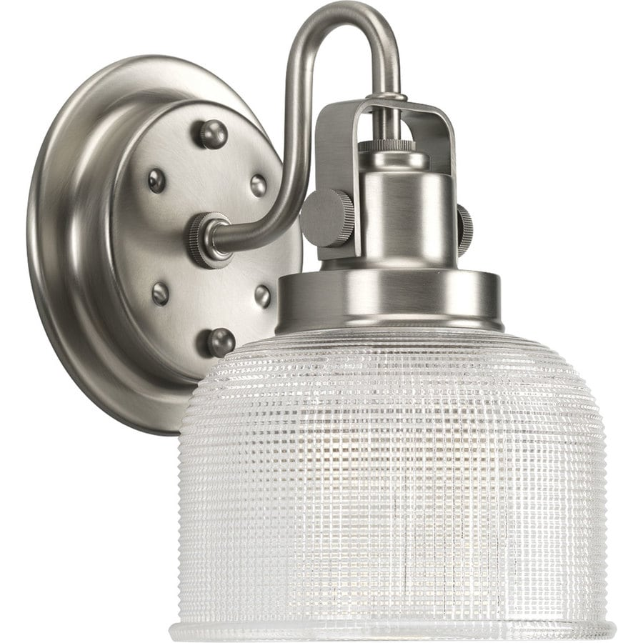 Progress Lighting Archie 1-Light 8.25-in Antique nickel Bell Vanity Light