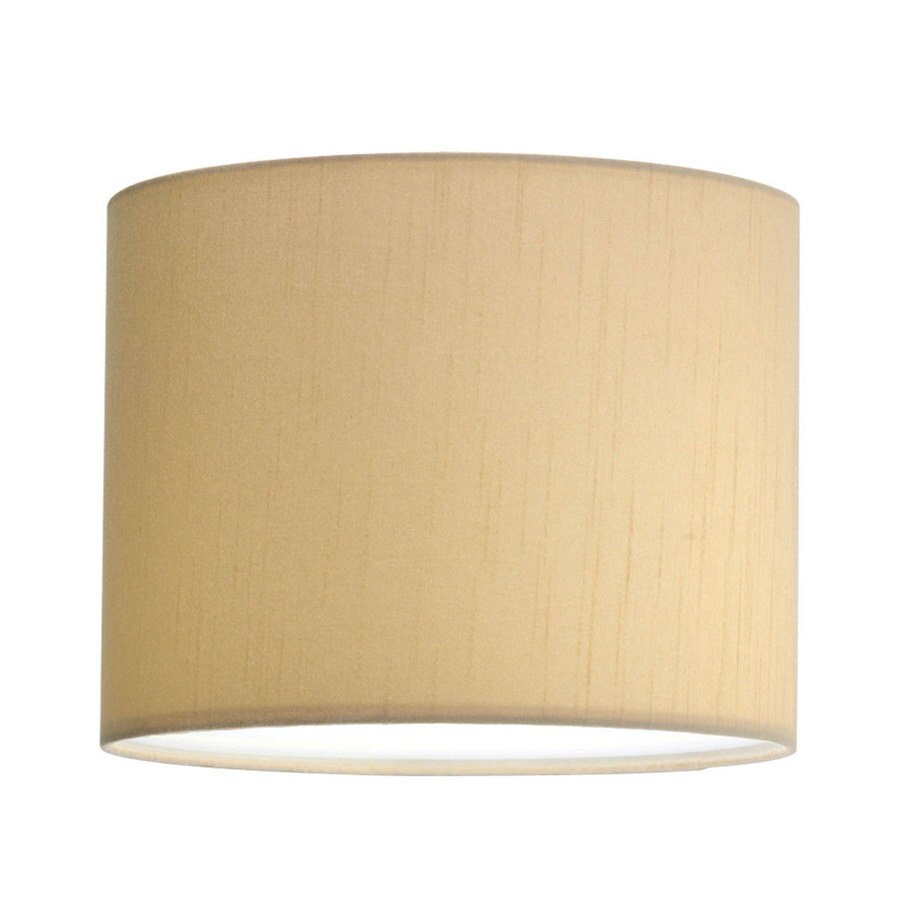 Progress Lighting Markor 8-in H 10-in W Beige Silk Cylinder Pendant Light Shade