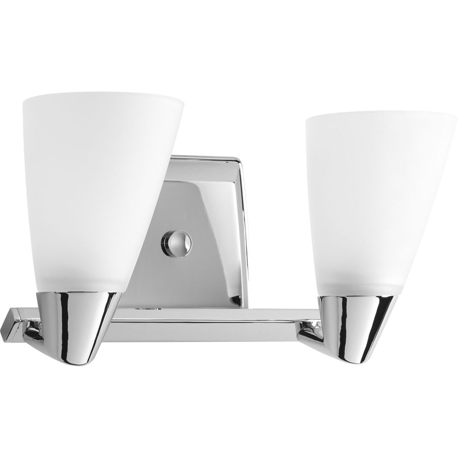 Progress Lighting Rizu 2-Light 7.25-in Polished chrome Cone Vanity Light
