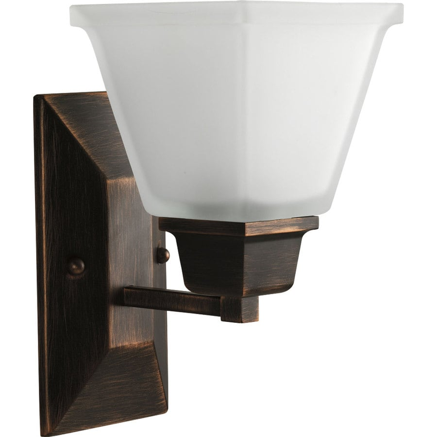 Progress Lighting North Park 5.5-in W 1-Light Venetian Bronze Arm Wall Sconce