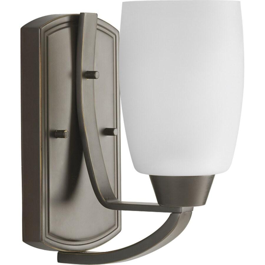 Progress Lighting Wisten 1-Light 8.25-in Antique Bronze Cylinder Vanity Light