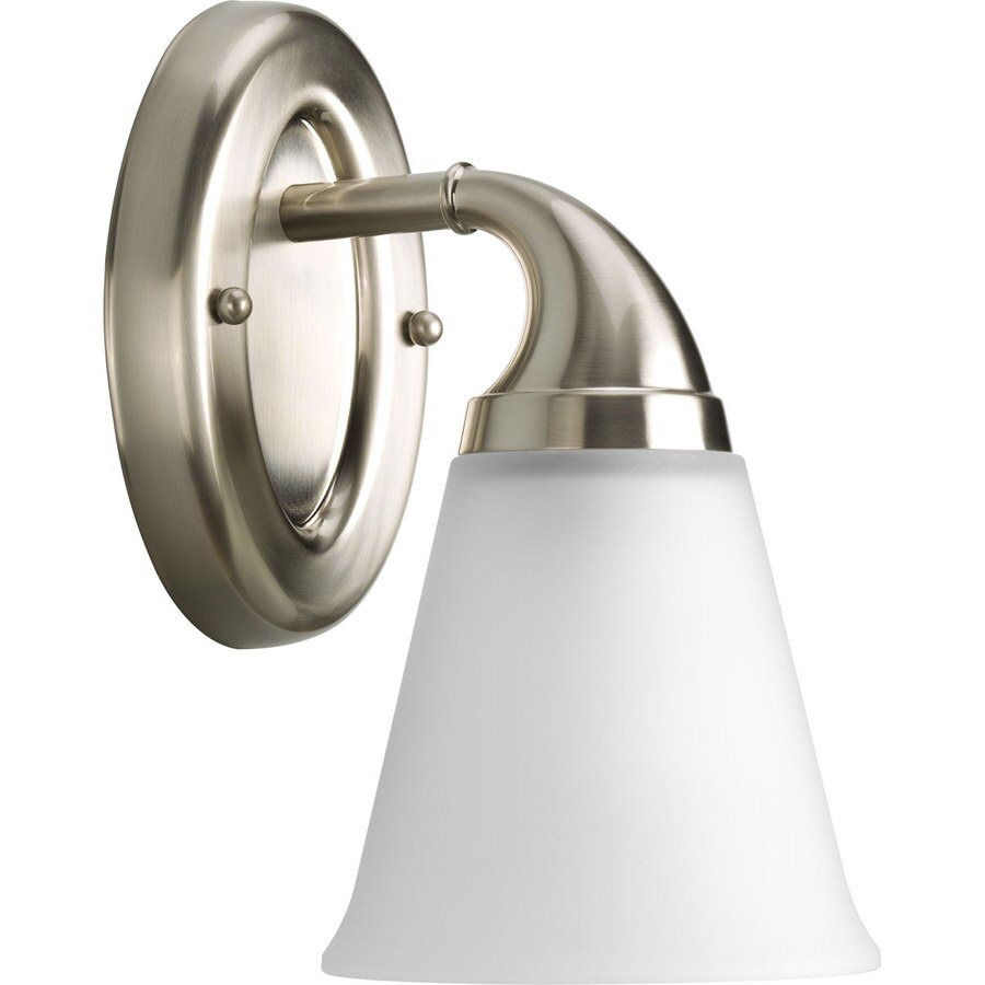 Progress Lighting Lahara 1-Light 10.375-in Brushed nickel Bell Vanity Light