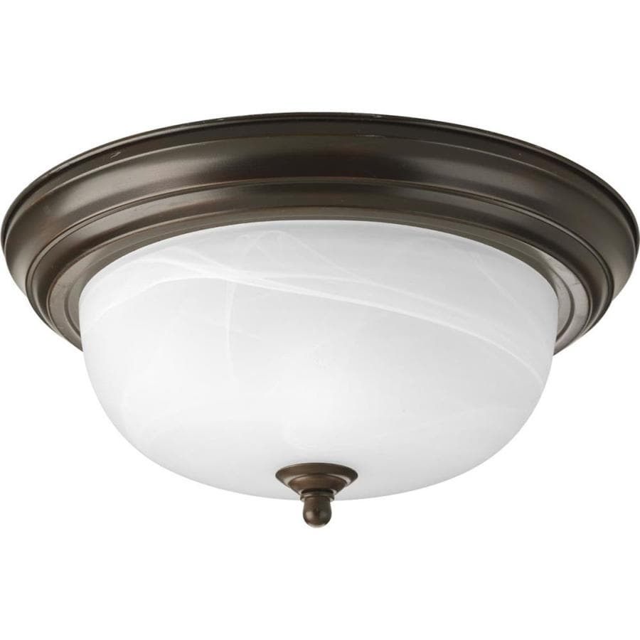 Progress Lighting Melon 13.25-in W Antique Bronze Standard Flush Mount Light