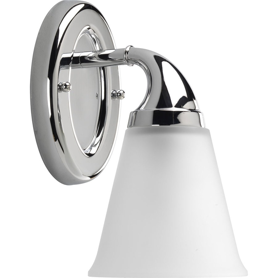 Progress Lighting Lahara 1-Light 10.375-in Chrome Bell Vanity Light