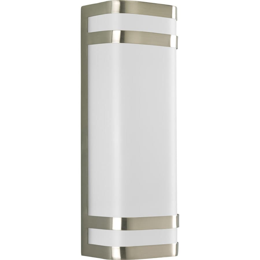 Progress Lighting Valera 16.12-in H Brushed Nickel Outdoor Wall Light